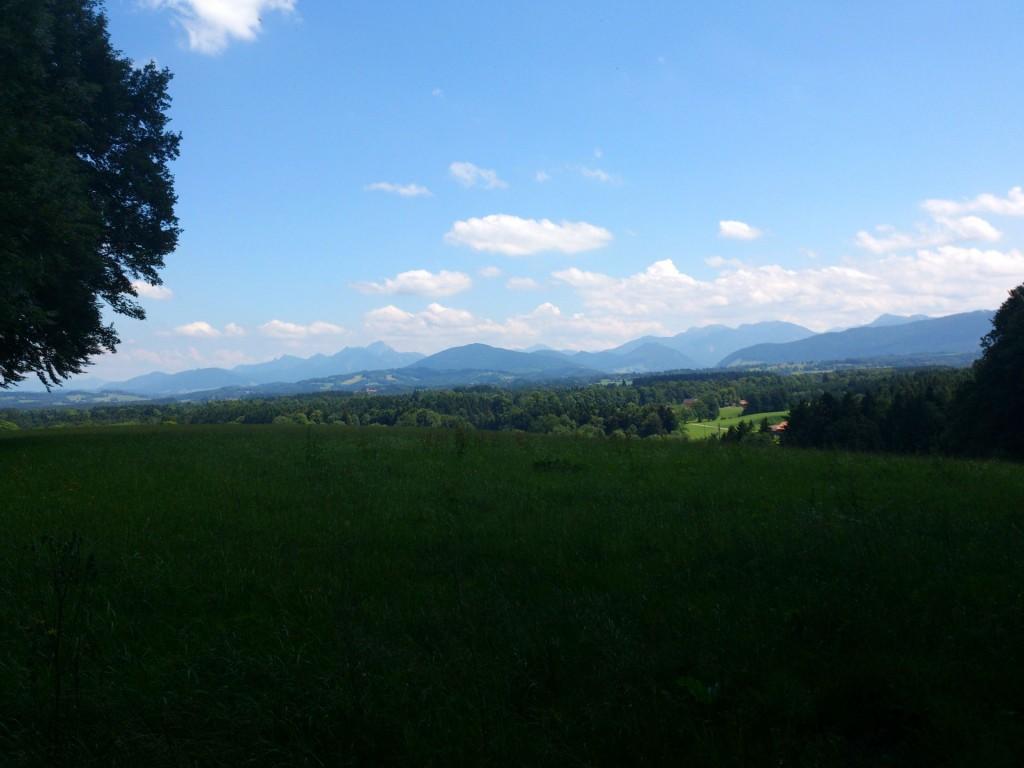 Blick vom Taubenberg gen Alpen