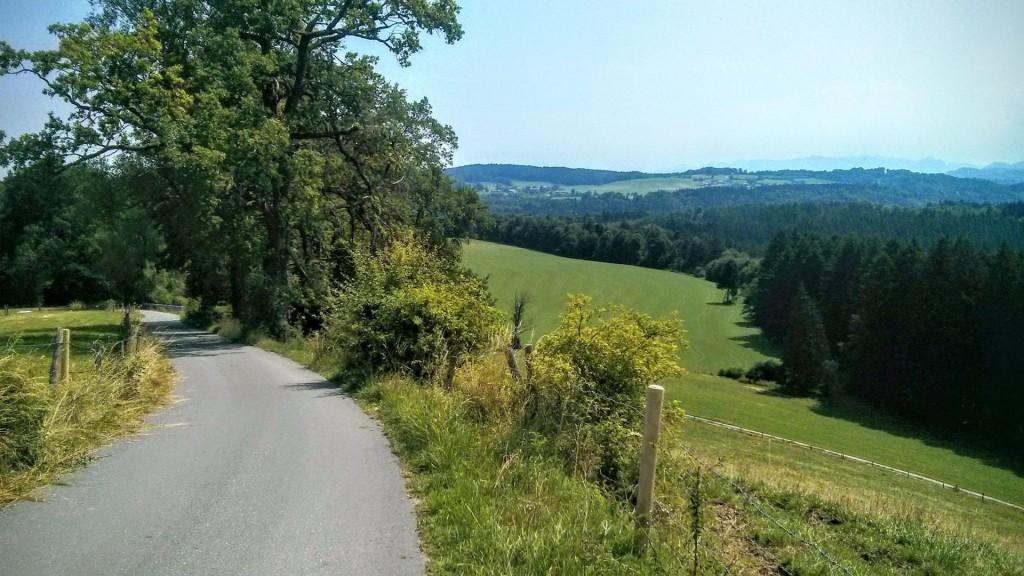 Mit dem Rennrad auf den Taubenberg