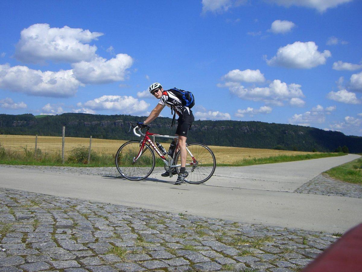 Eine meiner ersten und wenigen Rennrad-Touren in der Sächsischen Schweiz