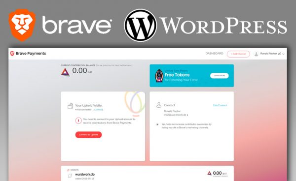 Brave Payments mit WordPress