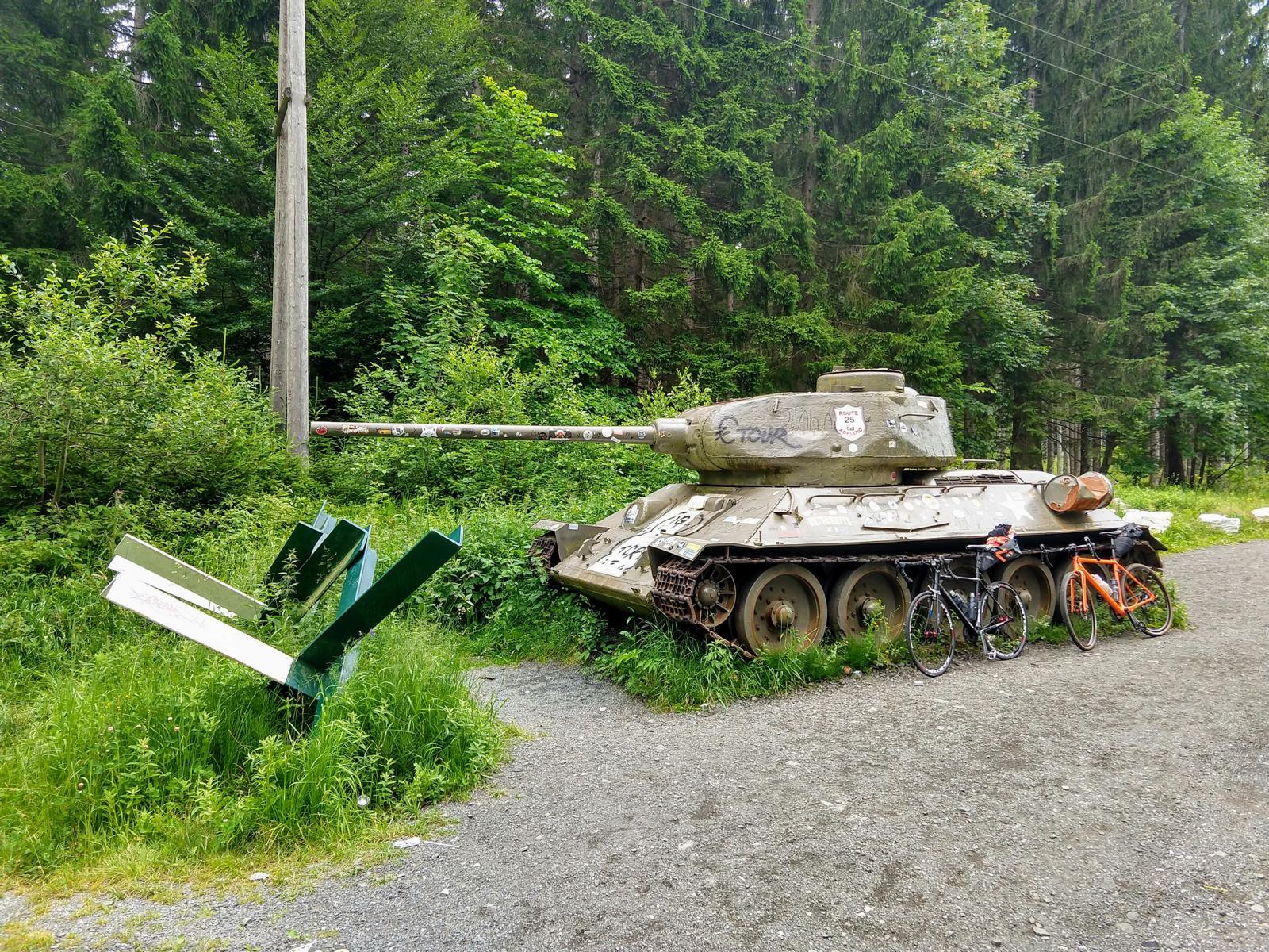 T62-Panzer am Wurzenpass