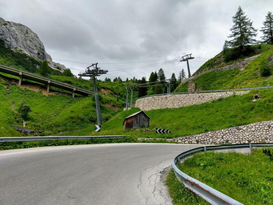 Auffahrt zum Passo Fedaia