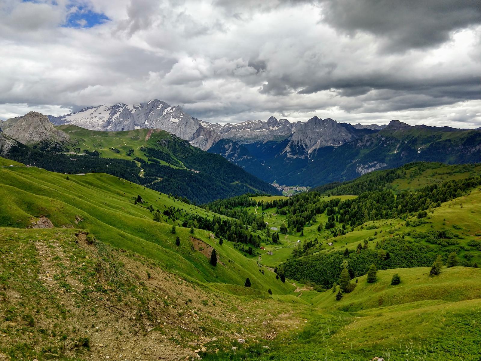 Ein letzter Blick in die Dolomiten